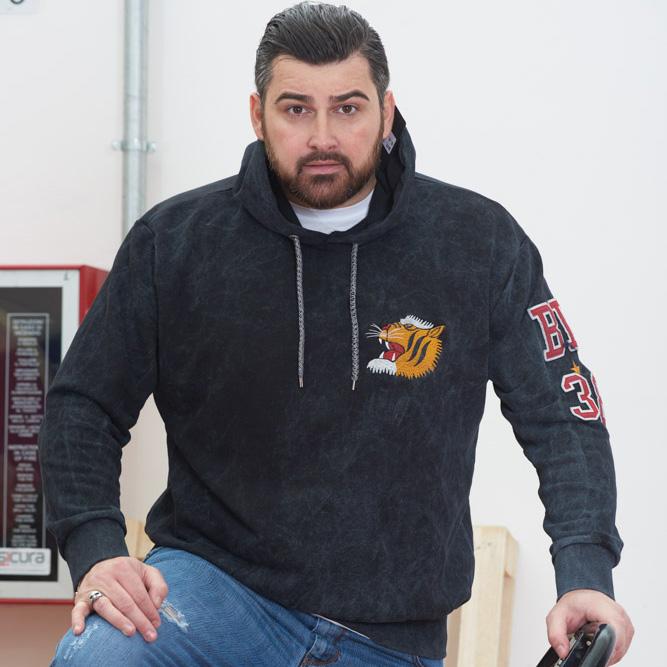 Felpa uomo oversize MaxFort