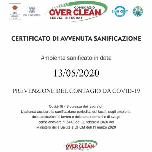 Ambiente Sanificato Covid19